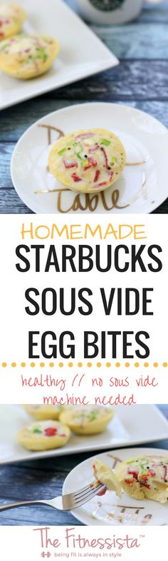 Homemade sous vide egg bites without the sous vide machine Homemade healthy starbucks sous vide egg bites without the sous vide machine. This is a delicious and healthy low-carb, protein-packed snack. Baby Food Recipes, Low Carb Recipes, Diet Recipes, Cooking Recipes, Healthy Recipes, Protein Recipes, Sous Vide Recipes Eggs, Egg Recipes, Copycat Recipes