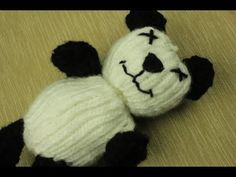Loom Knit -  Video on how to create a Panda Bear! From Caring Caps on ▶YouTube.