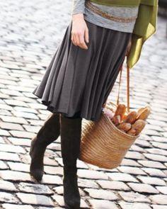Gored Knit Skirt  garnet hill $68.00