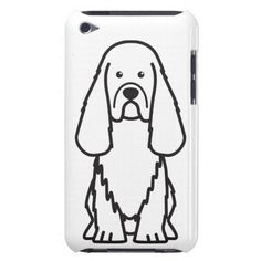 Sussex Spaniel Dog Cartoon iPod Touch Cases
