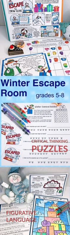Escape the Snow Globe is a creative ELA activity that my kids had a blast with! Fun tasks include practice with reading comprehension, figurative language, puzzles, and teamwork. #EscapeRoom #ClassroomFun #LearningGames #HolidayPartyIdea #Teacher #ClassroomEscape #puzzlegame #SchoolGames #LearningFun #BreakoutGames #EscapetheClassroom #Breakout