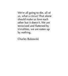 Charles Bukowski (1920-94).