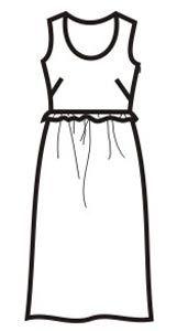 летнее платье с завышенной талией, воланом, без рукавов