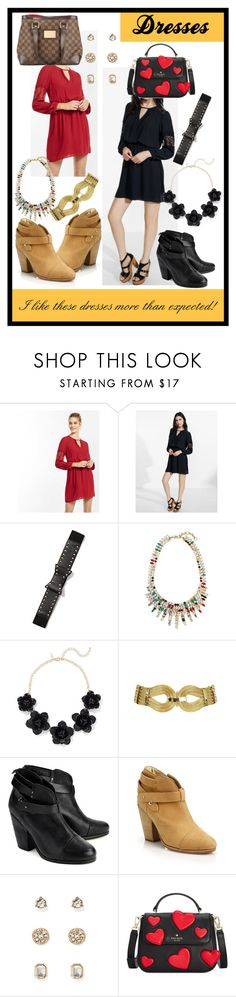 """""""..."""" by ma-nouvelle-vie-en-rose ❤ liked on Polyvore featuring Express, New York & Company, Banana Republic, rag & bone, Kate Spade and Louis Vuitton"""