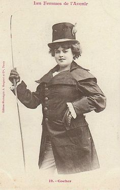 Trading cards: Professions for women of the future imagined in 1902 | Dangerous Minds A coachwoman