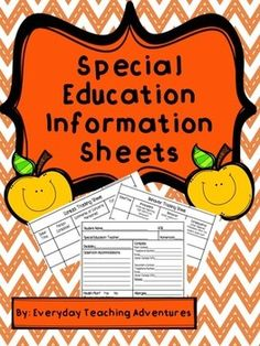 Looking for an information sheet you can provide for your General Education colleagues which quickly outlines your students? Well....here it is! Included is a sheet which provides information about contacts, health concerns, behavior concerns, and accommodations.I have also included behavior tracking sheets and contact tracking sheets to keep everyone in the loop!
