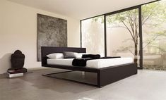 The bed in bedroom's center brings a different sleeping sensation.
