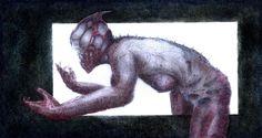 Did not photograph well. Macabre Art, Horror Art, Creature Design, Occult, Dark Art, Painting & Drawing, Erotic, Concept Art, Moose Art