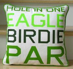 Golf Pillow - Scores