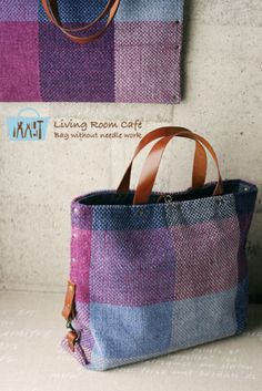 new style 縫わないバッグ My Bags, Purses And Bags, Fabric Bags, Woven Fabric, Linen Bag, Best Bags, Handmade Bags, Backpack Bags, Bag Making