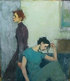 Malcolm Liepke  Harmony in Blues  oil on canvas  28 x 24 inches
