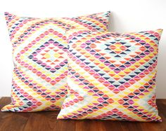 Sunset Rainbow Pillow Poppy / Navy / Ocean / by shapescolors Coastal Entryway, Coastal Rugs, Modern Coastal, Coastal Cottage, Coastal Homes, Coastal Decor, Entryway Decor, Coastal Bedding, Coastal Farmhouse