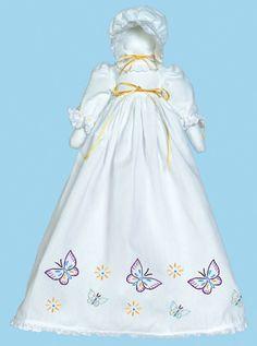 Jack Dempsey Stamped White Pillowcase Doll Kit Butterflies Galore