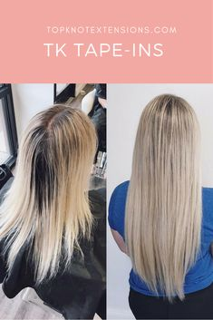 Top Knot Extensions TK Tape-Ins Hair Extensions For Real Women And Real Life.