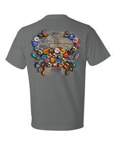 b6bd9f0378e Natty Boh Surfer Dude Land of Pleasant Living (Seafoam)   Long Sleeve Shirt