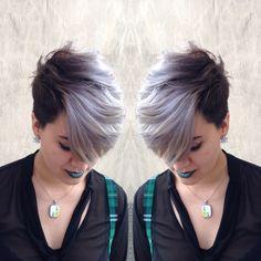 Silver hair/pixie cut