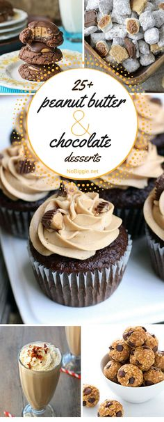 peanut butter and chocolate desserts! This list is awesome. : peanut butter and chocolate desserts! This list is awesome. Peanut Butter Recipes, Donut Recipes, Chocolate Peanut Butter, Chocolate Desserts, Baking Recipes, Just Desserts, Delicious Desserts, Dessert Recipes, Awesome Desserts