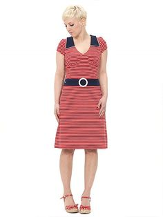 Strawberry Dress, red striped