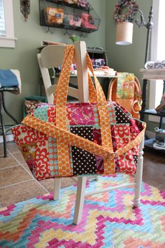 UX2 Diaper Bag for Twins with Patchwork Styling. Wishing I had mad sewing skills to make this!