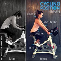 """Correct cycling form is key to a safe and effective ride, so we're pretty serious about it with our 3 different positions we feature at PC. This first one is the basic seated position, or """"in the saddle."""" Check this graphic for key cues. [we can't help but mention that form is accentuated in @lucyactivewear Tank and Zenergy Capri Leggings that we sell exclusively at the studio] #PCDoingItRight #indoorcycling #cycling #cyclingform #inthesaddle #LucyLetsGo #lucypro #lnk #nebraska…"""