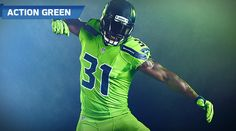Kam Chancellor pumps his fist Seahawks Color Rush 884785571