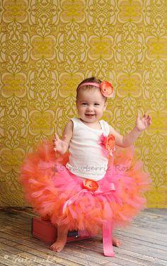 Tutu Tutu Outfit Tangerine petti tutu Baby