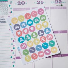 35 Medical Kits Sticker Planner by FasyShop on Etsy