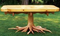 I am going to start looking for old tree roots and make one like this. cool
