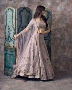 A Pastel Pink Embroidered Attractive Bride Wear Lehenga Indian Wedding Wear, Indian Bridal Outfits, Indian Bridal Lehenga, Indian Designer Outfits, Designer Dresses, Indian Wear, Bridal Dresses, Party Wear Indian Dresses, Indian Attire
