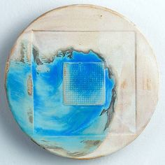 'Container' Painted stoneware wall piece  #ceramics #pottery