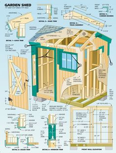 DIY Shed | Click on link for plans. (Illustration by Eugene Thompson)