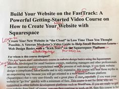 Yes my #onlinecourse on how to fast track your #smallbusiness #website with #squarespace is on the way. Happy to make #progress today.