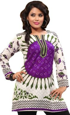 Indian Tunic Top Womens Kurti Printed Cotton Blouse Indian Clothes for only $23.99 You save: $11.00 (31%)