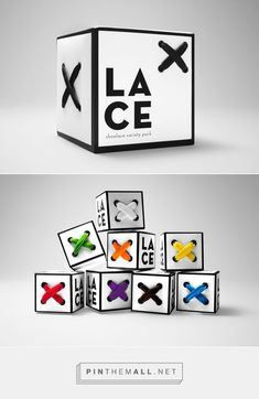 Lace Packaging on Behance by Katie Klasmeier. Project Brief: Using 2''x 2'' cubes, package and brand a product of your choice PD: