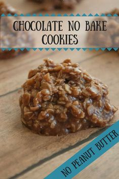 Chocolate No Bake Cookies. Made 5/5/18--delicious! Might boil a little longer next time. Perfect frozen and eaten straight out of the freezer. -SM