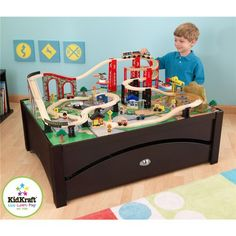 KidKraft New Metro Wooden Play Train Table & Set | 17952 >>> Be sure to check out this awesome product.