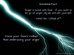 In divorce, in co-parenting, or even in everyday arguments, one of the biggest reasons there are arguments is due to anger.  Anger always comes from a place of fear!   The next time you're angry and you wan to let that anger go, ask yourself what you're afraid of.  That answer is the key to letting go.   Don't embrace your anger.  Face your fears.
