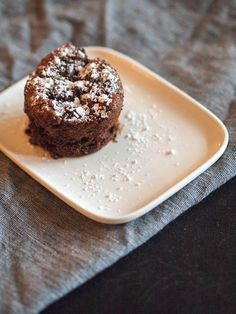 chocolate fondant Chocolate Fondant, Doughnut, Food And Drink, Desserts, Tailgate Desserts, Deserts, Postres, Dessert, Plated Desserts