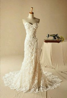 Another beautiful dress although she hates lace