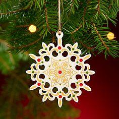LENOX Ornaments: Snowflakes & Snowmen - 2013 China Jewels Snowflake Ornament