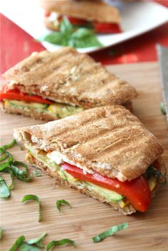Grilled Italian Panini Recipe with Zucchini, Summer Squash & Basil