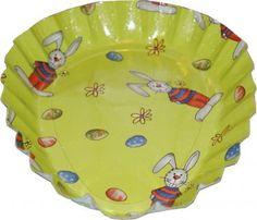 RZOnlinehandel - Osterteller Pappteller Eiform ca. 24x18cm Grün mit Osterhase Easter Bunny, Cardboard Paper, Basket, Eggs, Easter Activities, Decorating