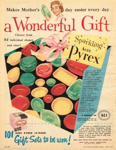 AGEE PYREX, Vintage Advertising 1959 Original - Australia All the best Pyrex is in Australia.