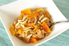 Quinoa Hot Cereal cooked with apple sauce