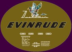 Evinrude Ducktwin decal