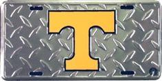 University of Tennessee Volunteers Metal Vanity License Plate Tag Cover