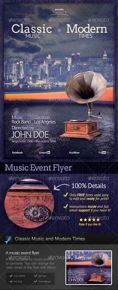 Old vinyl Music Flyer Music flyer, Vinyl music and Flyer template - music flyer