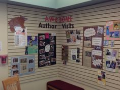 Three Rivers Author Wall Display