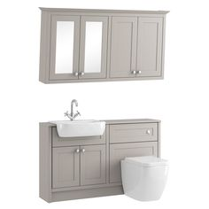 Find Shades Vanity Unit, Toilet, Wall Mounted Cabinet & Mirror Package - Breeze Shaker at Homebase. Visit your local store for the widest range of bathrooms & plumbing products. Basin Vanity Unit, Bathroom Mirror Cabinet, Bathroom Sink Vanity, Bathroom Inspiration, Toilet Vanity Unit, Small Toilet, Wall Mounted Bathroom Storage, Toilets And Sinks, Ensuite Shower Room