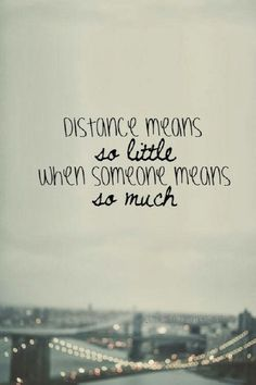 Distance doesn't define anything